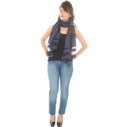 Cotton Blend Plain Grey Scarf