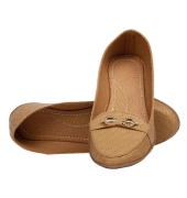 Rudra Collection Synthetic Leather Brown Flat Heel Ethnic Bellies