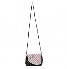 Envie Black & White Zipper Closure Printed Pattern Sling Bag