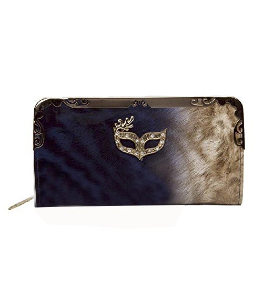 Envie Navy Blue & Brown Coloured Party Clutch