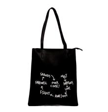 Envie Faux Leather Solid Black Zipper Closure Tote Bag for Women