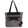 Aliado Cloth Fabric Black and White  Coloured Zipper Closure  Handbag