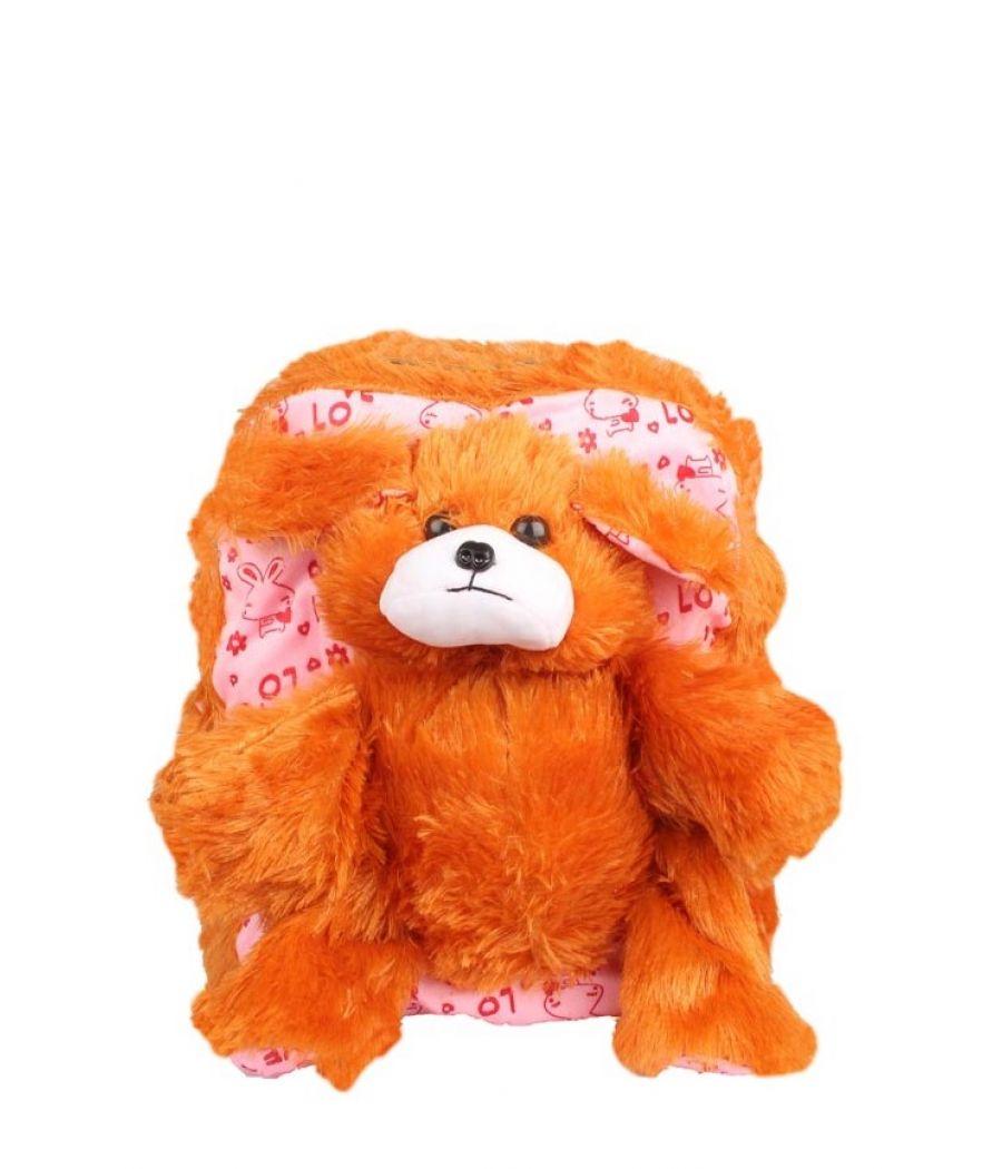 Envie Faux Fur   Orange   Coloured Zipper Closure Backpack