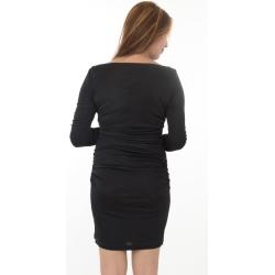 Asos Black Long Sleeve Bodycon Dress