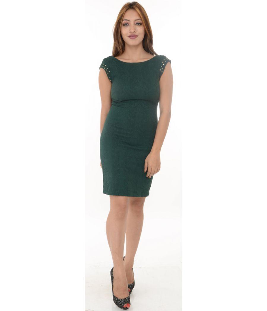 Zara Trafaluc Dark Green Bodycon Dress