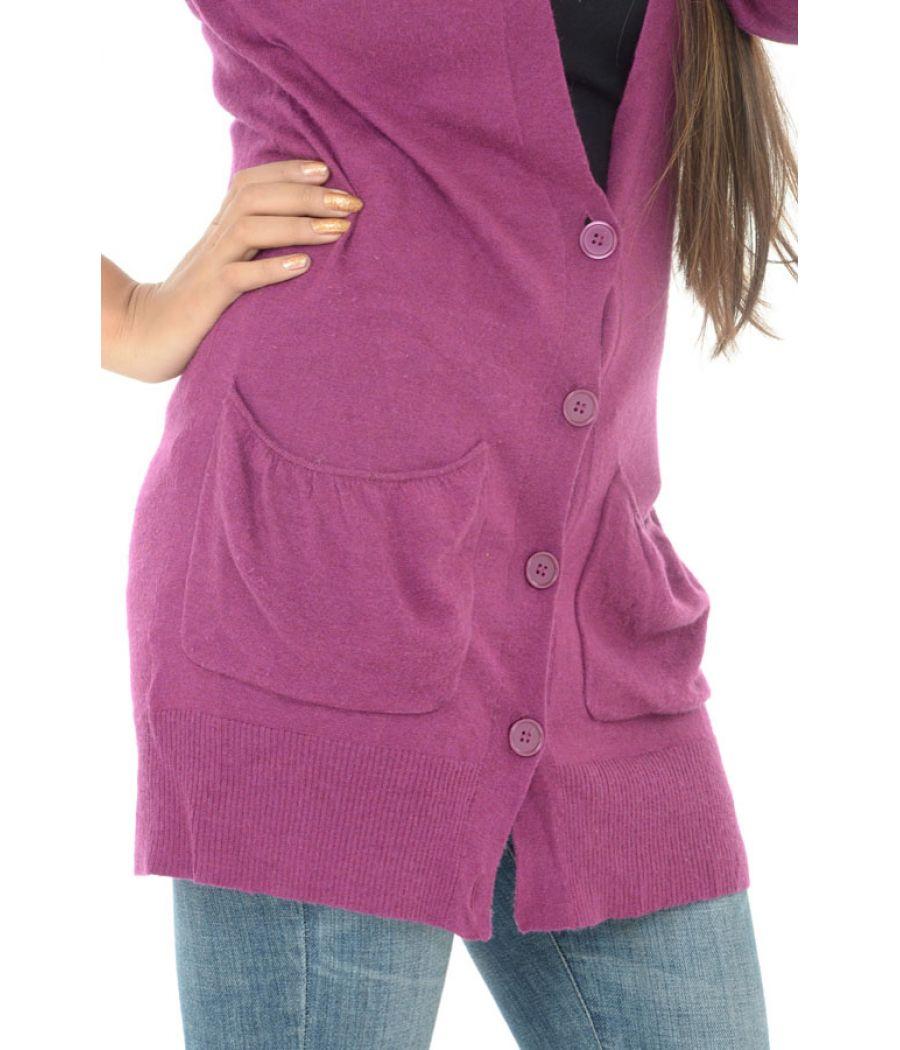 Laura Ashley Puple Pocket Detail Cardigan