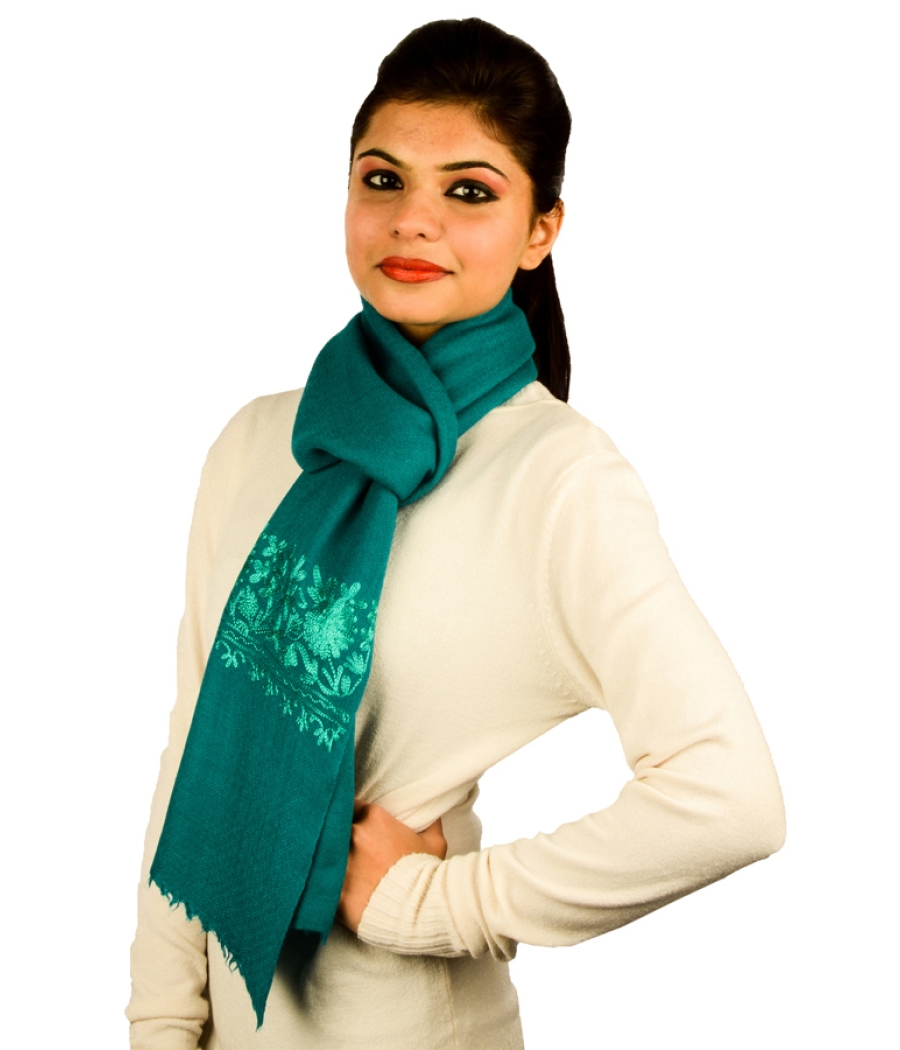 Silk Embroidery Pashmina Stole