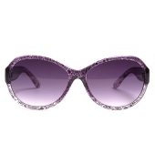 Parim Paisley Printed Frame Oval Sunglasses