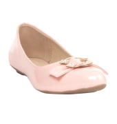 Avidev Synthetic Leather Pink Coloured Broad Toe Flat Heels Bellies