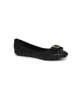 Estatos Synthetic Leather Flat Black Bellies for Women