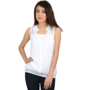 White Pearl Embroidered Top