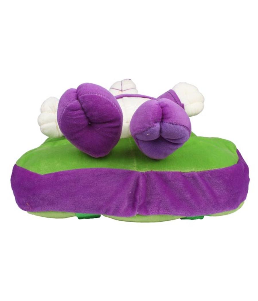 Envie Faux Fur Green and Purple  Coloured Zipper Closure Backpack