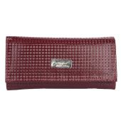 Envie Faux Leather Magenta Coloured Magnetic Snap Clutch