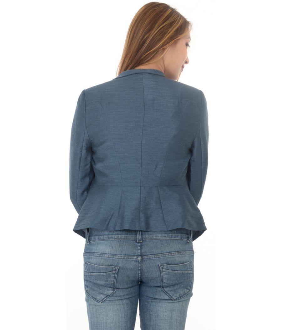 Blue Peplum Style Blazer