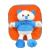 Envie Faux Fur Orange and Blue  Coloured Zipper Closure Backpack