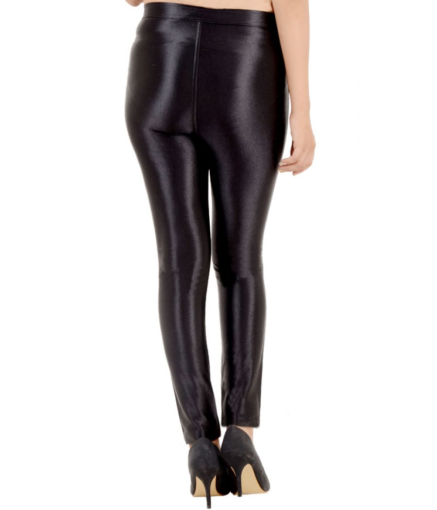 New Look Nylon Shimmery Black Trousers