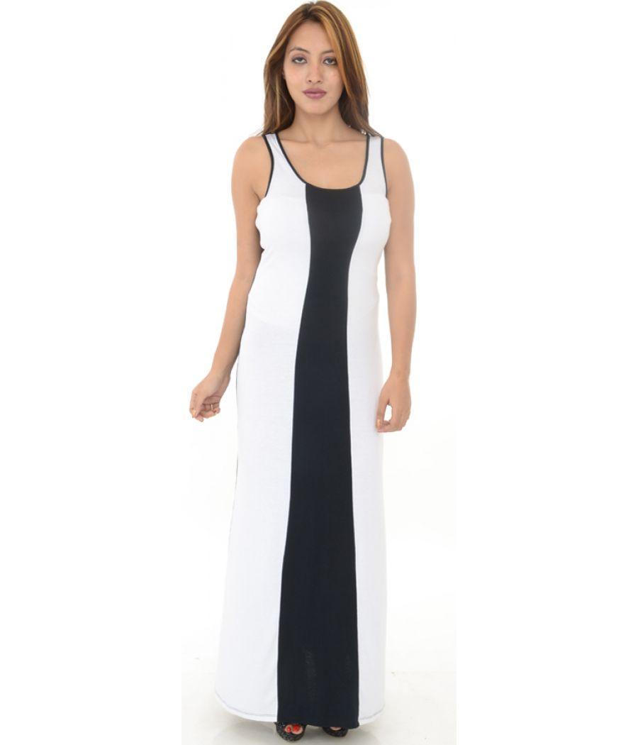 Ultra Flirt White & Black Maxi Dress