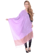 Sanida Self Modal Embroidered Purple Shawl