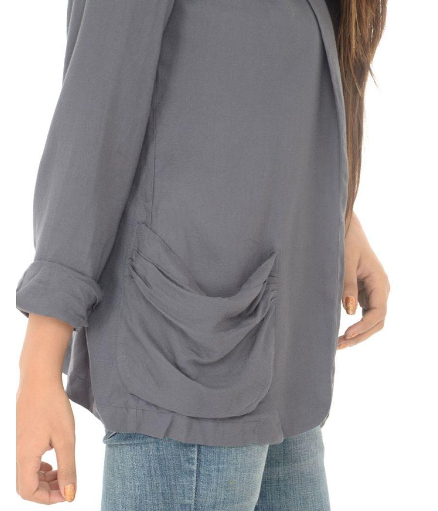 New look Grey Front Pockets Jacket