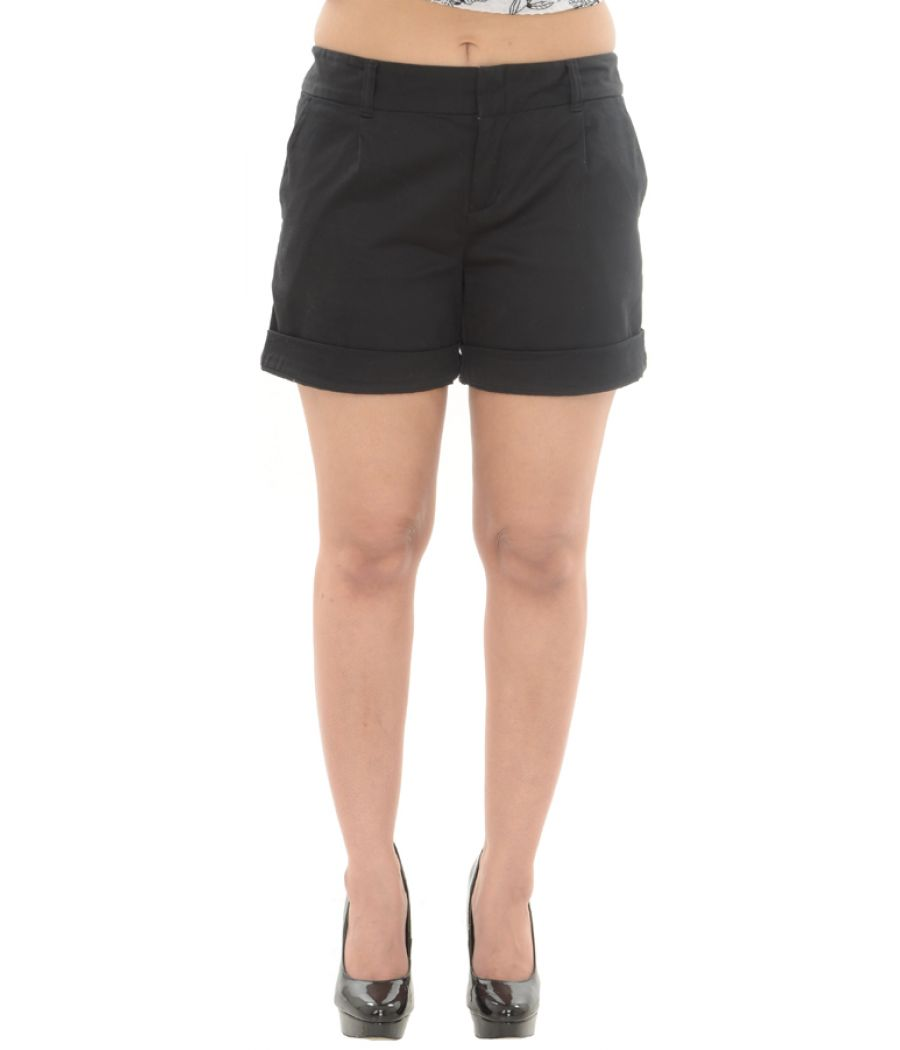 Cotton Black Shorts
