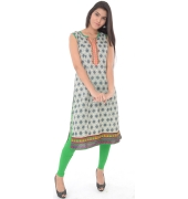 Sleveless Printed Cotton Kurti