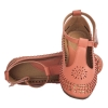 MCS Synthetic Leather Peach Broad Toe Velcro Closure Flat Bellies
