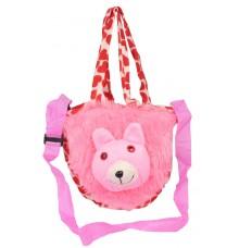 Envie Faux Fur Multi Coloured Zipper Closure Sling Bag
