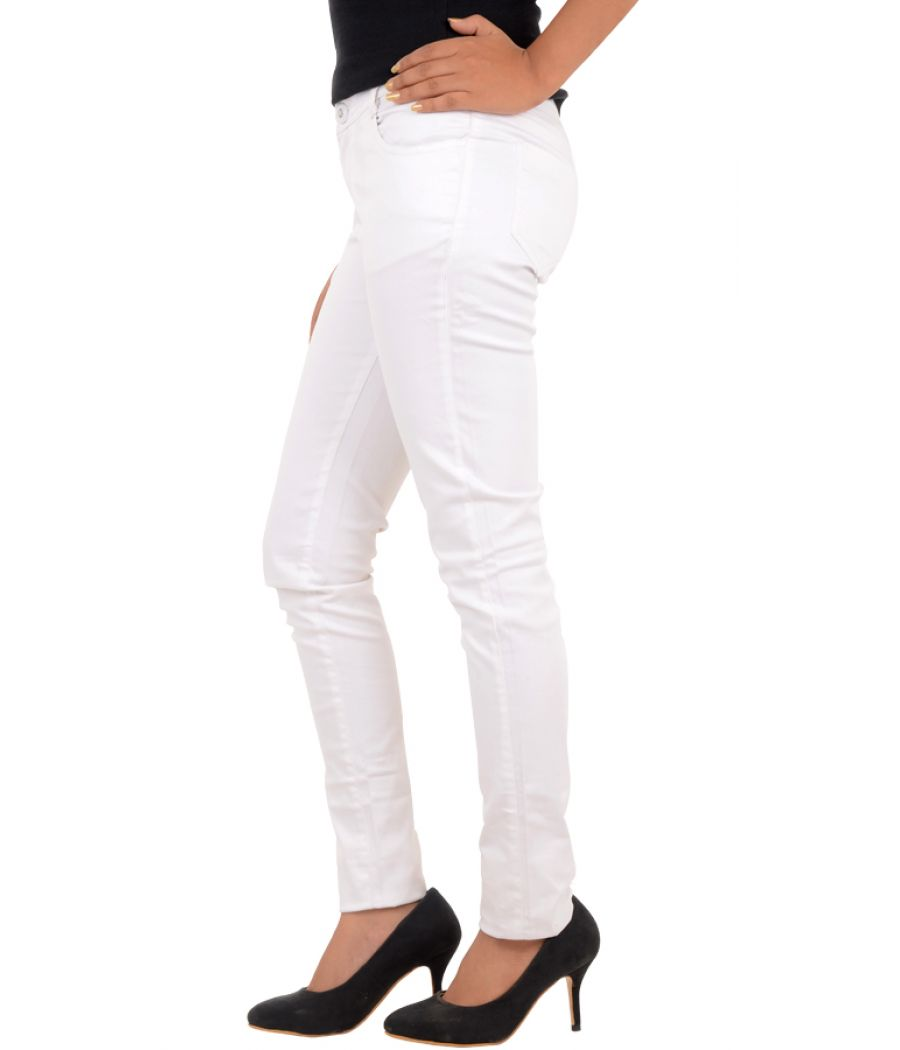 Solid White Jeans
