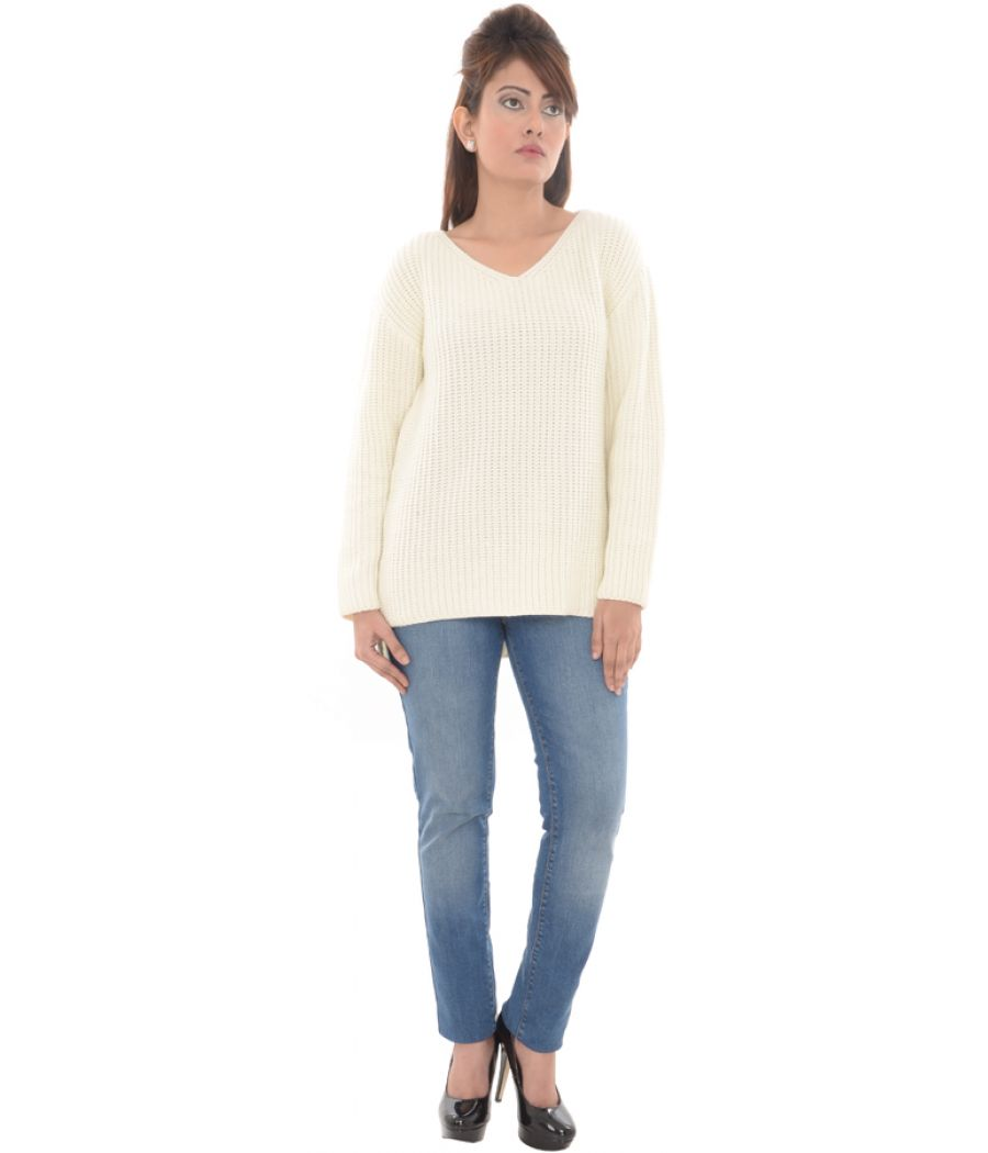 Missguided Woollen Knitted Cream Sweater