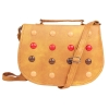 Envie Faux Leather Brown Embellished Magnetic Snap Casual Sling Bag