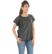 Daisy Polyester Shimmery Black Top