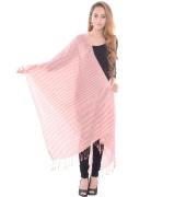 Sanida Silk Wool Striped Red Shawl