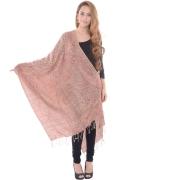 Sanida Modal fabric Embroidered Brown Shawl