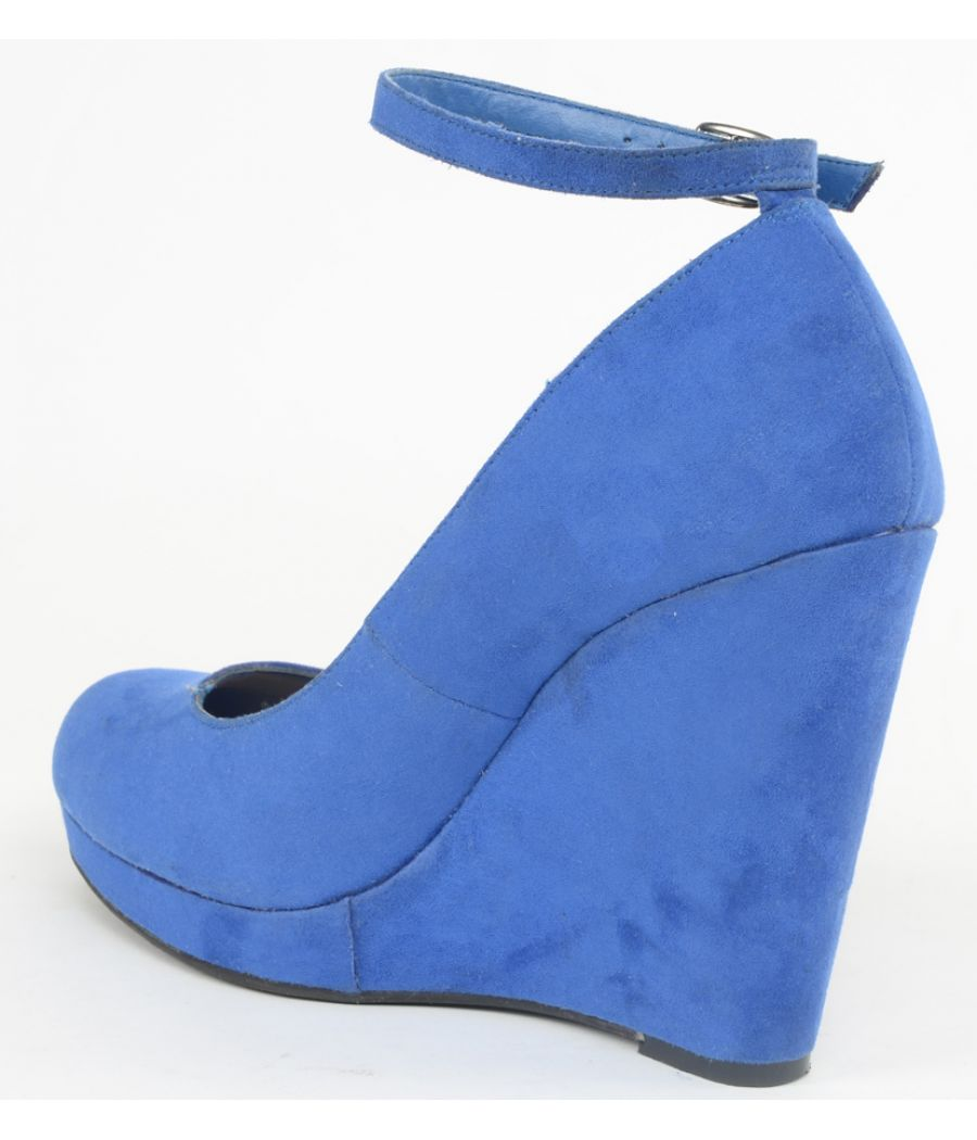 Gorgeous Blue Ankle Strap Wedges