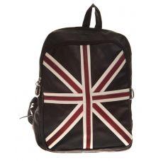 Aliado Faux Leather Printed Black Coloured Zipper Closure Backpack