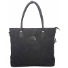Buck Leather Black Handbag