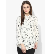 W Birds Printed Viscose White/Black Shirt