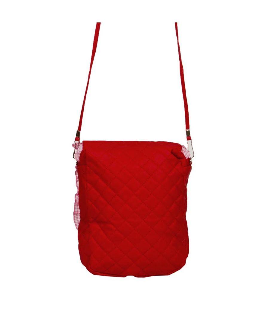 Envie  Embellished Pink Coloured Zipper Closure Sling Bag