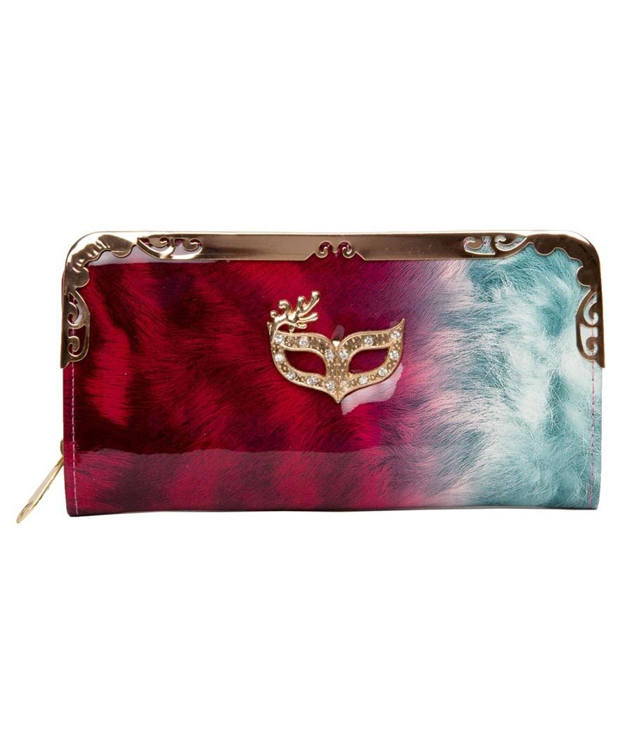 Envie Red and Blue Coloured Party Clutch
