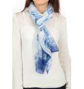 Etashee Certified White & Blue Stole
