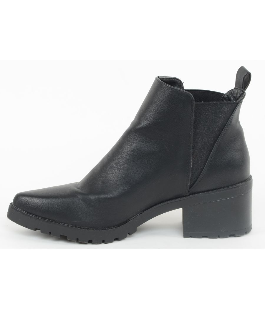 Truffle Collection Black Faux Leather Boots
