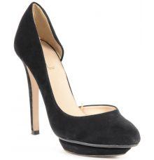 Trafaluc Velvet Cut Out Black Stilettos