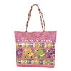 Aliado Cotton Pink Embellished Zipper Closure Handbag
