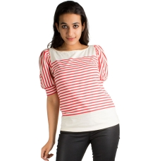 Cooperative Red and White Stripe Top