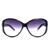 Karldi Purple/White Oval Sunglasses with Black Frame
