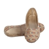 MCS Synthetic Leather Beige Broad Toe Party Flats