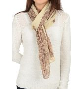 Etashee Certified White & Brown Stole