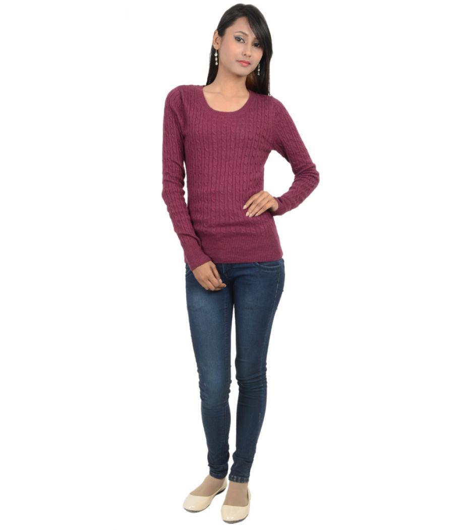 H&M Purple Woollen Jumper