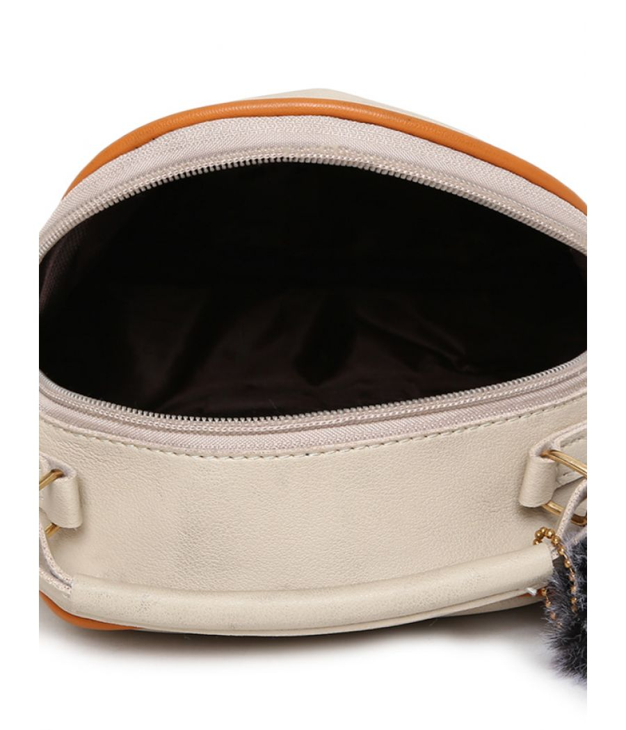 Envie Beige Colour Printed Slingbag for College Girls