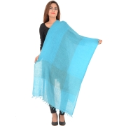 Sanida Woollen Solid Blue Shawl